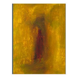 """Gold to Violet"" Albers Homage Postcard Print"