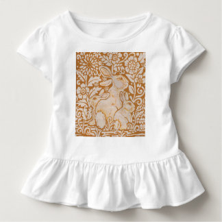 Gold Tone Girl's T shirt Bunny Rabbit Elegant Gift