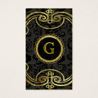 Gold Tones Baroque Swirls Pattern 2 Business Card