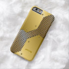 Gold Tones Metallic Look Geometric Pattern. Barely There iPhone 6 Case