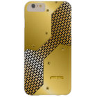 Gold Tones Metallic Look Geometric Pattern. Barely There iPhone 6 Plus Case