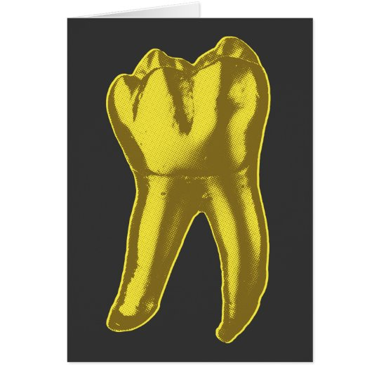 Gold Tooth Greeting Card