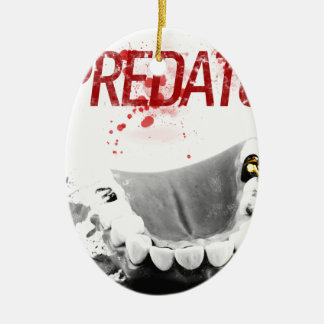 Gold Tooth Predator Ceramic Oval Decoration