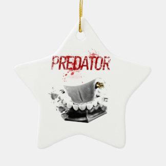 Gold Tooth Predator Ceramic Star Decoration