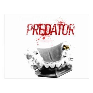 Gold Tooth Predator Postcard