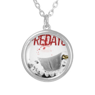 Gold Tooth Predator Silver Plated Necklace