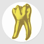Gold Tooth Round Stickers