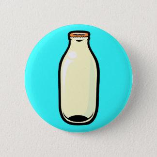 Gold Top Milk Bottle 6 Cm Round Badge