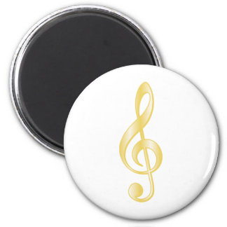 """""""Gold"""" Treble Clef Magnets"""