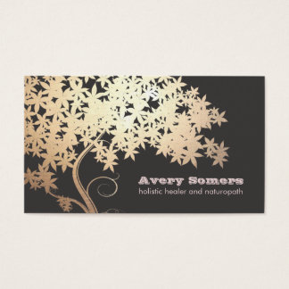 Gold Tree Holistic Health Healer Business Card
