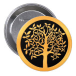 Gold Tree Pinback Buttons