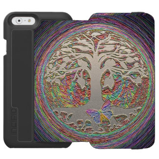 Gold Tree with Butterly Incipio Watson™ iPhone 6 Wallet Case