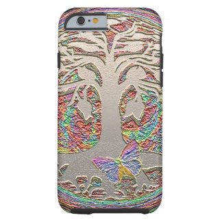 Gold Tree with Butterly Tough iPhone 6 Case