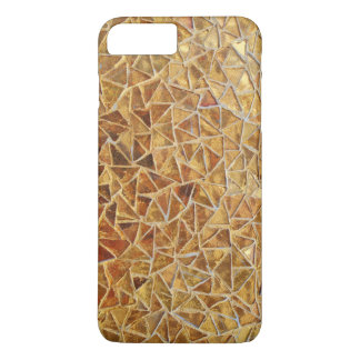 Gold triangle mosaic iPhone 8 plus/7 plus case