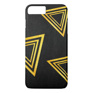Gold Triangles / Modern Style iPhone 8 Plus/7 Plus Case