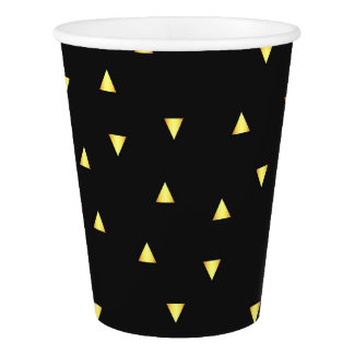 Gold Triangles Paper Cup