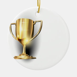 Gold Trophy Christmas Ornament
