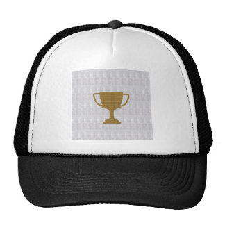 GOLD Trophy Crystal White Background NVN287 Winner Cap