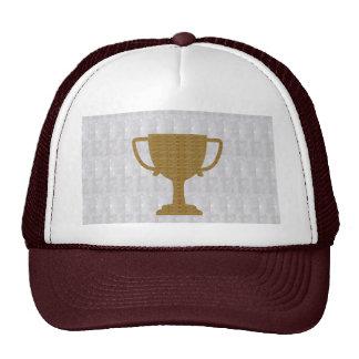 GOLD Trophy Crystal White Background NVN287 Winner Cap