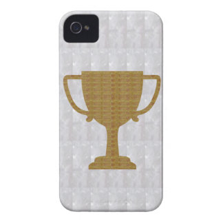 GOLD Trophy Crystal White Background NVN287 Winner iPhone 4 Covers
