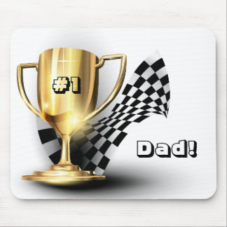 Gold Trophy NUmber One Dad Father s Day Mousepads