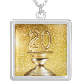 Gold Trophy Silver Plated Necklace
