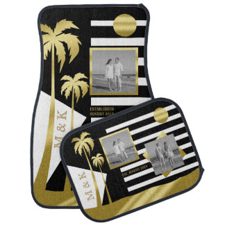 Gold Tropical Palm Trees Beach Instagram Photos Car Mat