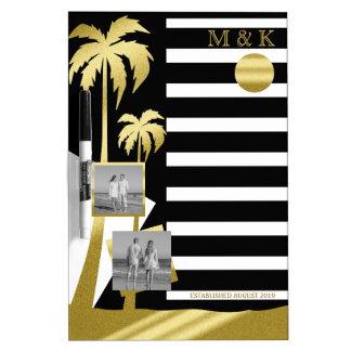 Gold Tropical Palm Trees Beach Instagram Photos Dry Erase Board