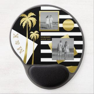 Gold Tropical Palm Trees Beach Instagram Photos Gel Mouse Mat