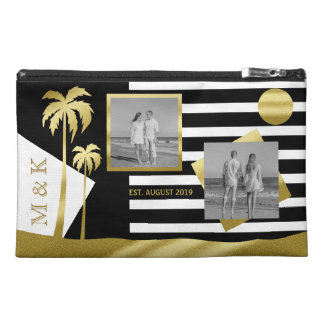 Gold Tropical Palm Trees Beach Instagram Photos Travel Accessory Bag