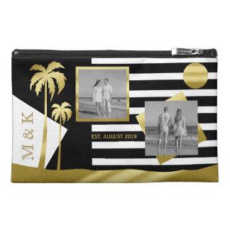Gold Tropical Palm Trees Beach Instagram Photos Travel Accessory Bags