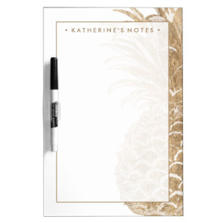 Gold Tropical Pinneapple Dry Erase Board