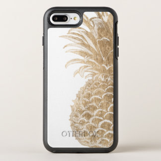 Gold Tropical Pinneapple OtterBox Symmetry iPhone 8 Plus/7 Plus Case