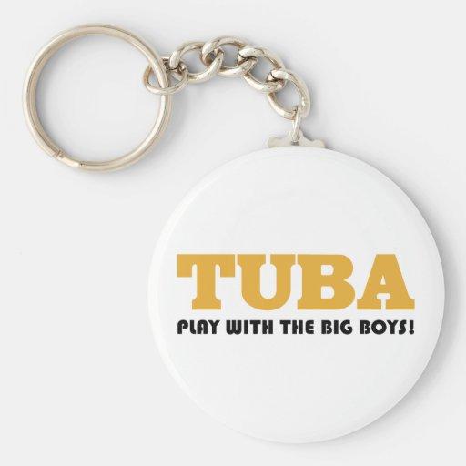 Gold Tuba Attitude Gift Key Chains