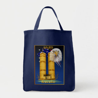 Gold Twin Towers Eagle n Flag Bags