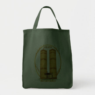 Gold Twin Towers Oval lettered Bags