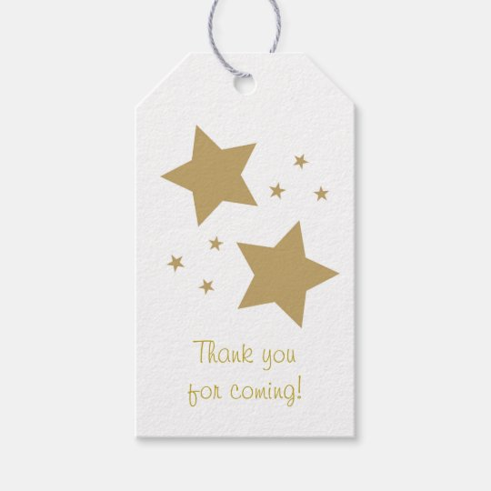 Gold Twinkle Star Party Favour Tags
