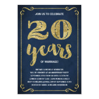 Gold Typography | Faux Foil 20th Anniversary