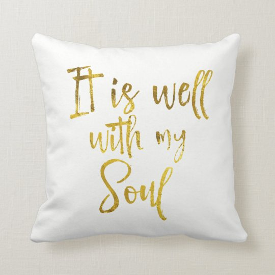 Gold Typography: It is well with my Soul