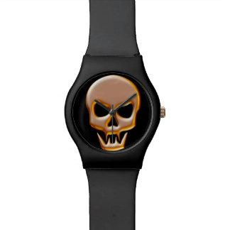 Gold Vampire Skull Wristwatches