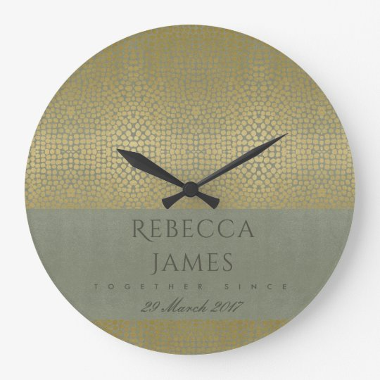 GOLD VELVET GREY MOSAIC DOTS SAVE THE DATE