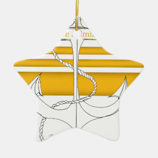 gold vice admiral, tony fernandes ceramic star decoration