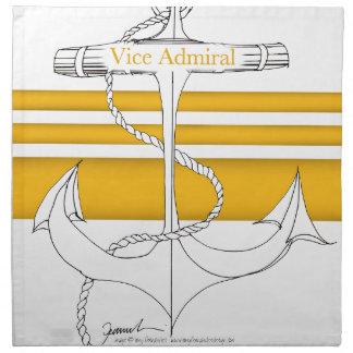 gold vice admiral, tony fernandes napkin