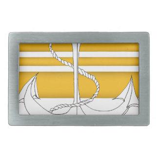 gold vice admiral, tony fernandes rectangular belt buckle