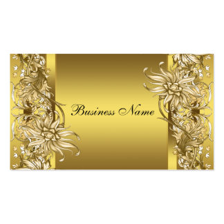 Gold Victorian Flower Elegant Gold Business Card Template