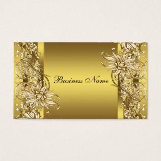 Gold Victorian Flower Elegant Gold Business Card