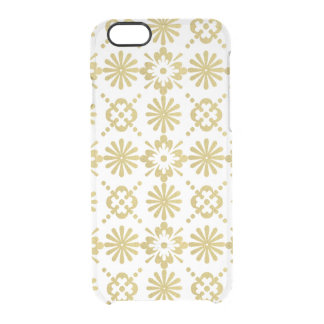 Gold Victorian Inspired Pattern Clear iPhone 6/6S Case