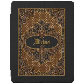 Gold Victorian Ornamental Book Cover Personalized iPad Cover