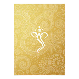 Gold Vinayaka Wedding Invitations