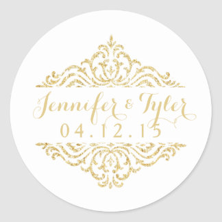 Gold Vintage Glamour Elegance Wedding Stickers